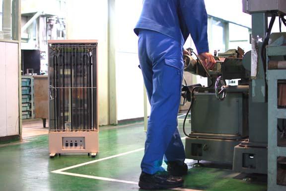 工場内の暖房