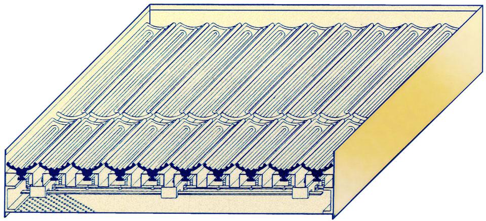 カットモデル:セラミックヒーターによる加熱ユニット