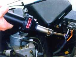 NHJ型 ホットジェットS使用例 標準ノズル+反射ノズル装着