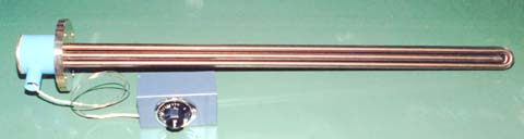 サーモスタット付き板フランジヒーター