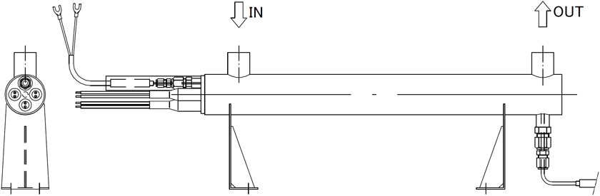 図5 取付例 縦置き