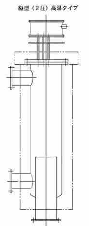 2点鎖線は保温材を示します
