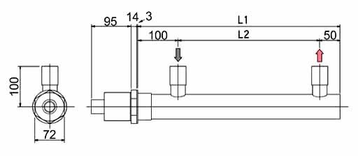 図2 空気加熱用ネジ込みシェル型ヒーター