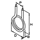 曲げ形状例(図はIU型)
