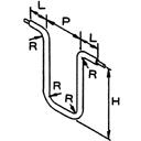 曲げ形状例(図はLA型)