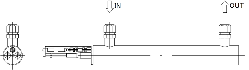 図8 取付例 縦置き
