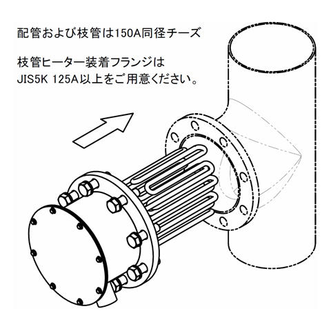 図5 フランジヒーター取付図 (SLTL15用)