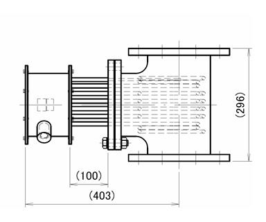 図4 高温用インラインヒーター