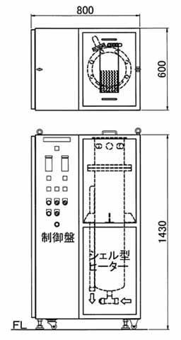 図1 参考図 3相200V40kW IN・OUT管継手G1(25A)