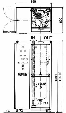 図5 3相200V80kW IN・OUT JIS10K 40A