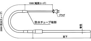 図1 石英潜水ヒーター