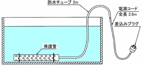図3 耐酸石英潜水ヒーターの使用例