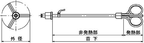 図1 各部寸法概略図(詳細は下図参照)