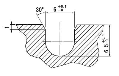 ホットフレックス溝加工寸法