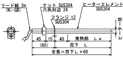 CTB型ボルトヒーター(特殊カートリッジヒーター) タイプII