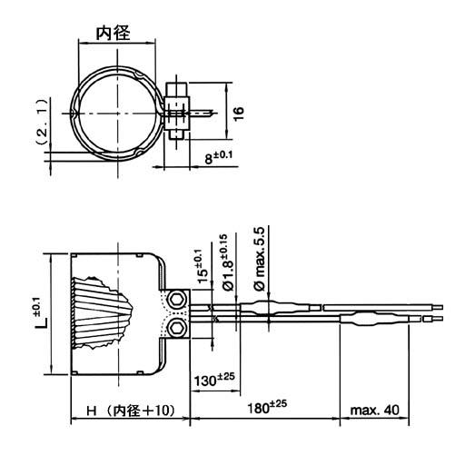 UWRPF1.3×2.3-C 接線方向