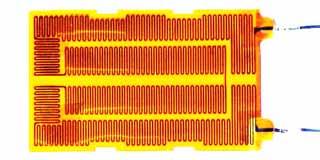 ポリイミド面状ヒーターの例 単相200V200W