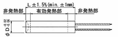 UA~UF型およびUA~UF型ヒーター
