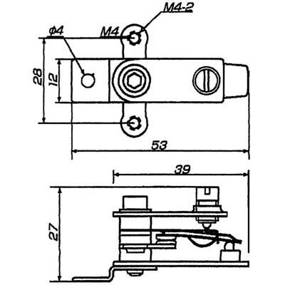 高温度用バイメタル式サーモスタット T1HC型