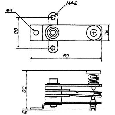 高温度用バイメタル式接点 T1HP型