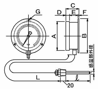 アナログ温度計 TI-B型