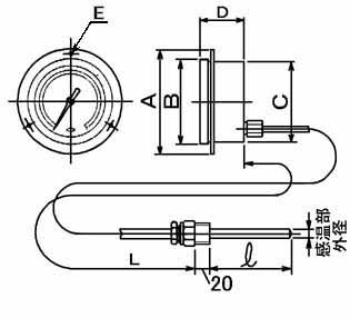 アナログ温度計 TI-D型
